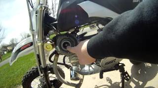Short walkaround of the turbo pitbike project