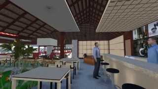 Perancangan Interior Ryoshi Japanese Restaurant