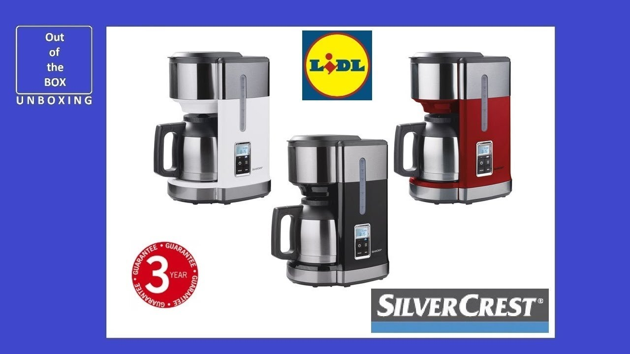 Unboxing Coffee Machine Skmd 1000 A1 Kat Lidl 1000w 10 Cups Filter Lcd