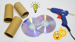 Best Reuse Idea With Old Cds and Empty Paper Tube How To Recycle Old CDS and Paper Tube