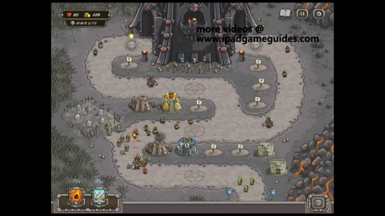 Kingdom Rush Map 12 (The DARK TOWER) Normal - YouTube
