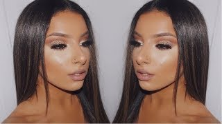 GOLDEN GLITTER GLAM MAKEUP TUTORIAL