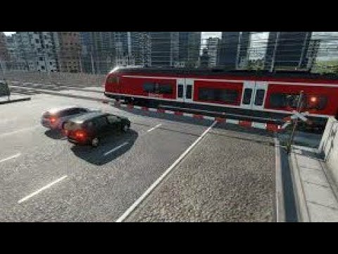10 minutes at the modern railroad crossing | Transport Fever 2 |