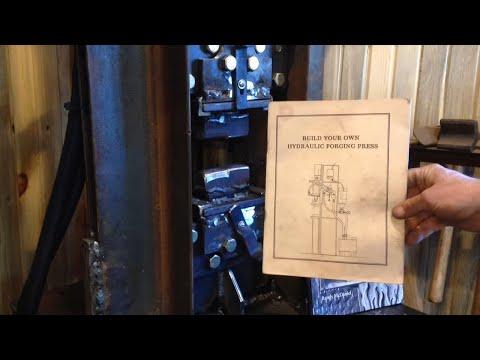 24 ton hydraulic forging press for blacksmithing