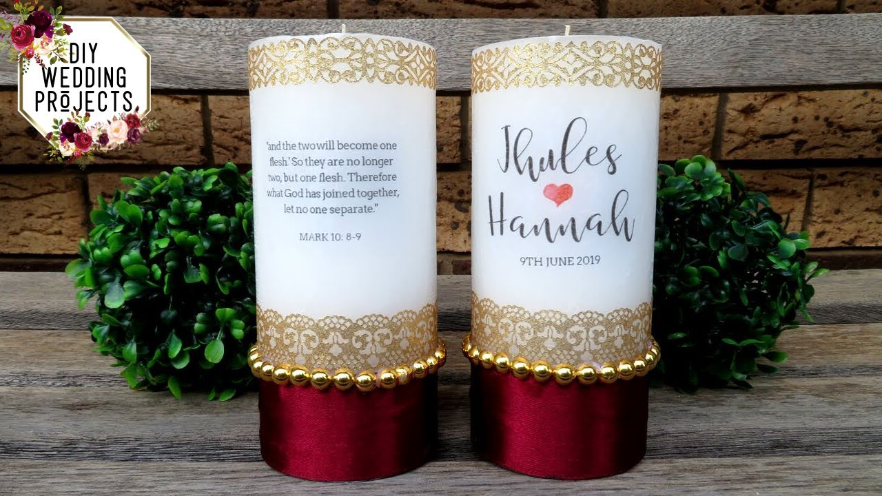 How To Decorate Unity Candles Diy Wedding Project Tutorial