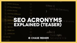 SEO Acronyms Explained Teaser