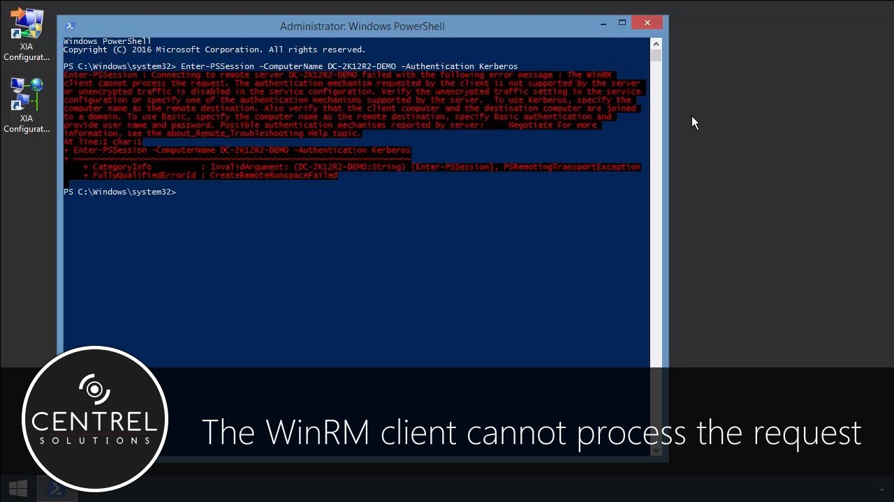 The WinRM client cannot process the request  The authentication mechanism  requested by the client