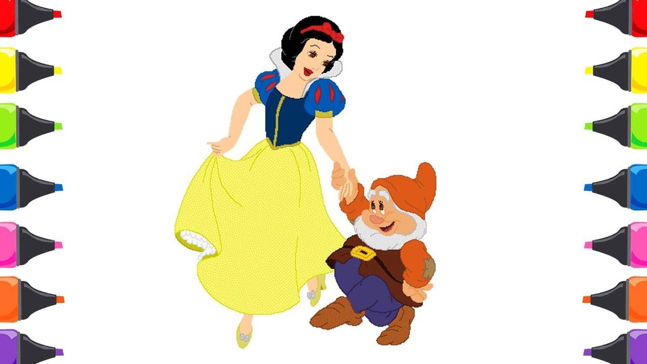 Pamuk Prenses Ve Yedi Cüceler Masalı Cadı Boyama Renkleri öğreniyorum çocuk şarkısı