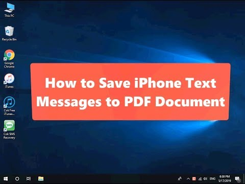 How To Save IPhone Text Messages To PDF Document