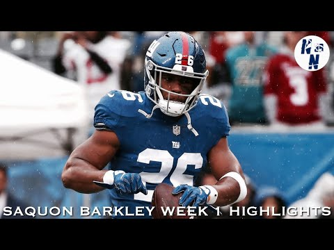 Saquon Barkley Week 1 Highlights   ᴴᴰ   ||   Giants vs Jaguars   ||   9/09/18