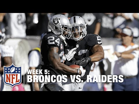 Charles Woodson Picks Off Peyton Manning for the 2nd Time! | Broncos vs. Raiders | NFL