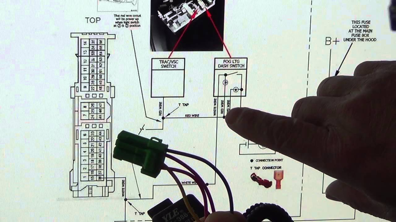 A lights wiring diagram