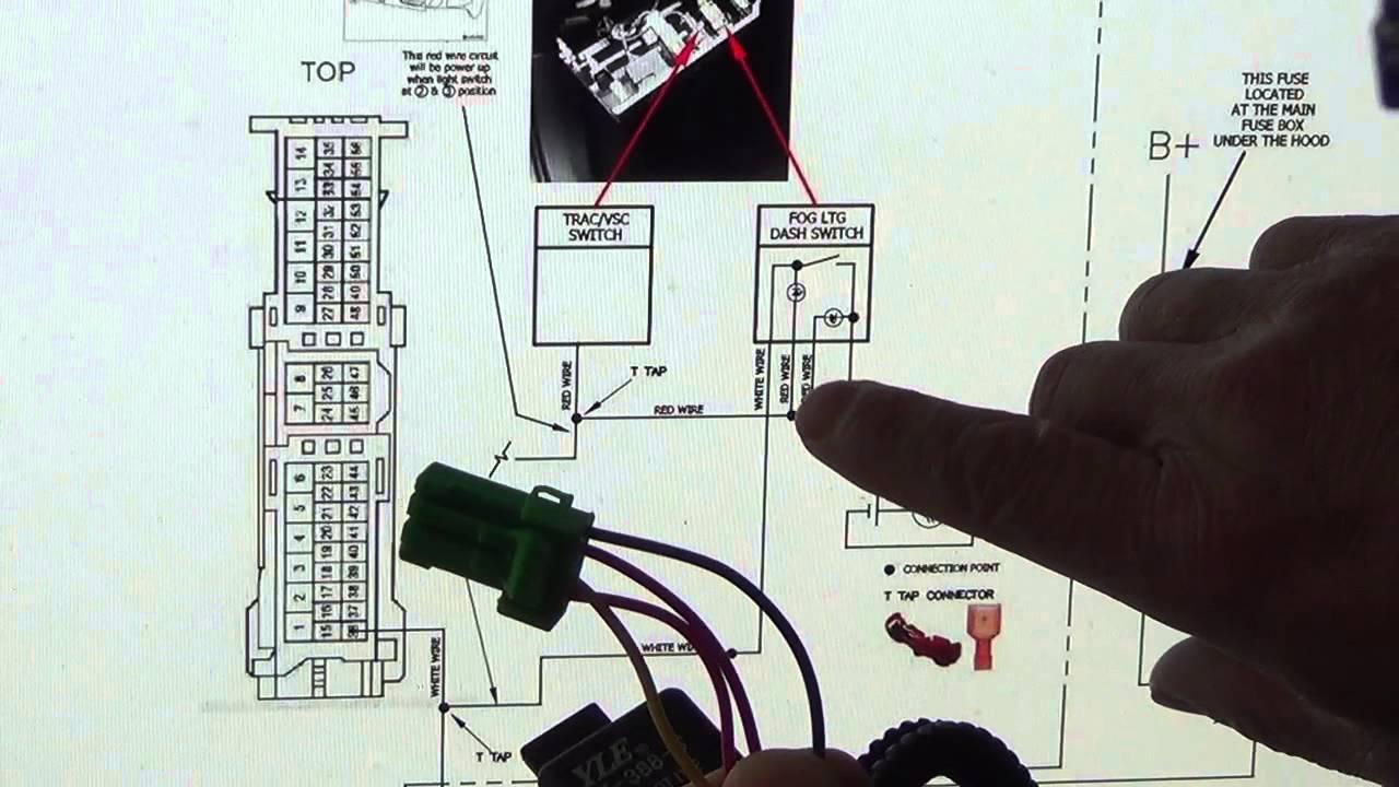 reverse light wiring diagram model t coil 2015 toyota rav4 le fog installation 2 - youtube