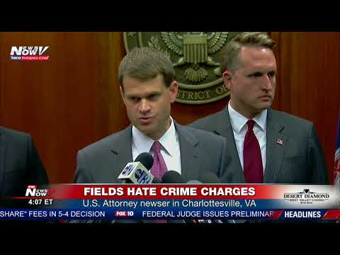 HATE CRIMES CHARGES: U.S. Attorney newser - James Alex Fields Jr alleged Charlottesville attack