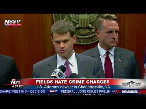 HATE CRIMES CHARGES: U.S. Attorney newser - James Alex Fields Jr alleged Charlottesville attack