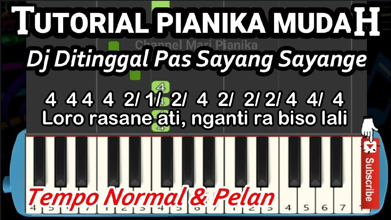 Not Angka Pianika Ditinggal Pas Sayang Sayange Youtube