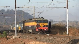 17617 Tapovan Express Ripping Past A Curve Between Thansit And Khardi!!!