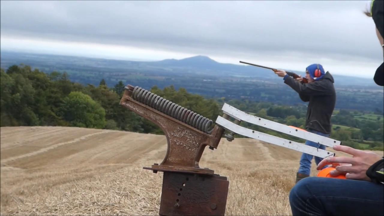 The Homemade Clay Pigeon Shooter - YouTube