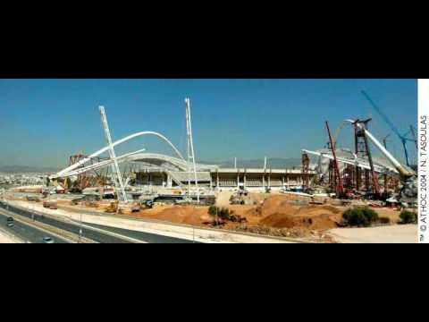 Athens Olympic Stadium OAKA - Roof Construction Progress