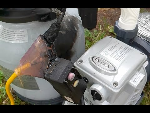 Electrical fire on Intex pool pump and sand filter!! And how to fix it