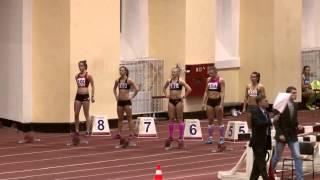 60м с/б женщины. Финал А. Чемпионат СПБ (25.01.2014)