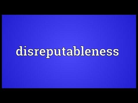 Header of disreputableness