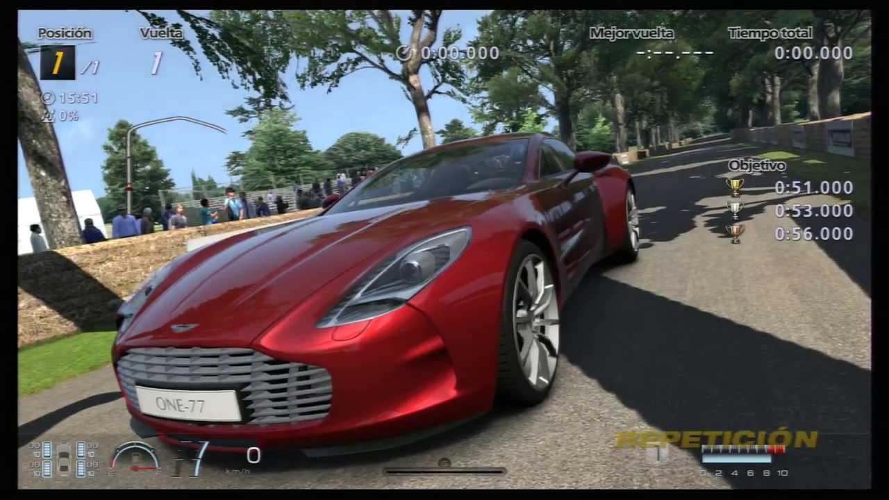 GT6 Goodwood Hillclimb Festival 3-2 [Aston Martin One 77] en ORO ...
