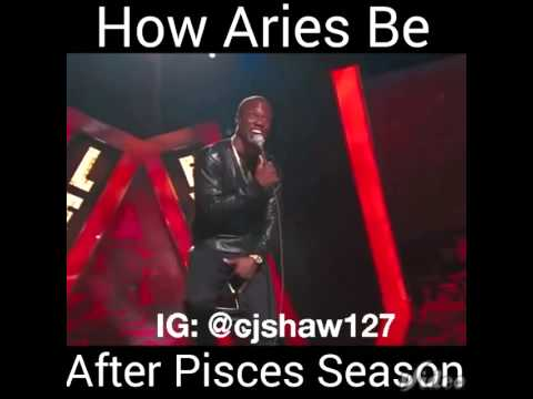 How Aries be after Pisces season 😂😂