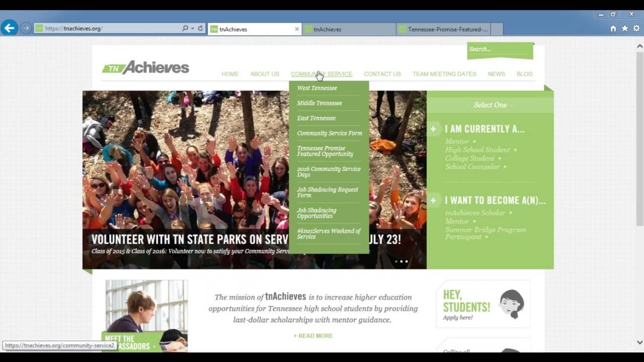 tnAchieves Webinar Wednesday: Community Service - YouTube