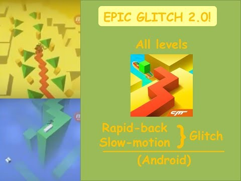 [This is on Android!] Dancing Line - Rapid-back & Slow-motion Glitch (All levels)