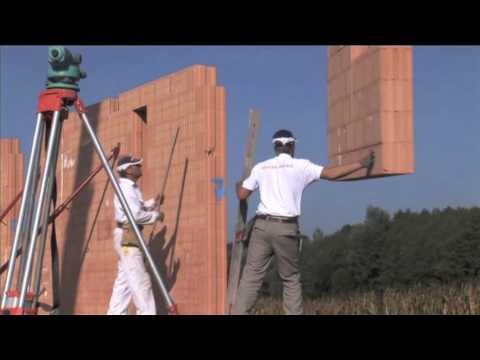 Installation Of Redbloc Prefabricated Wall System On A