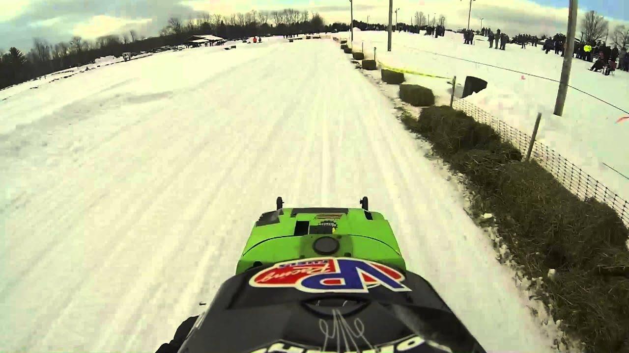 Dover foxcroft vintage snowmobile race 2014 - YouTube