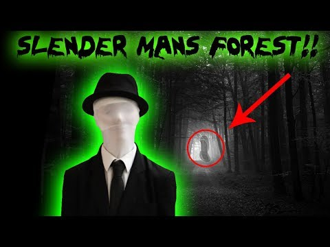 HIDE AND SEEK SLENDER MAN IN THE WOODS CHALLENGE!