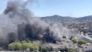 Marseille : un incendie s'est déclaré à proximité de la Cité radieuse