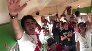 Peruanos viajan a estadio de Rusia en tren