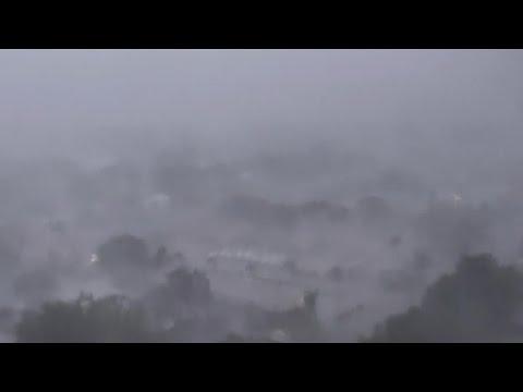 Eye Of Hurricane Irma Passes Through Sarasota