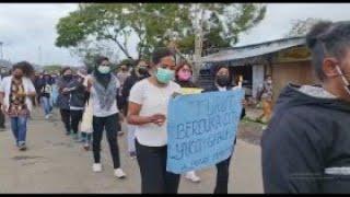 Aksi Solidaritas Nakes untuk Perawat Korban Penyerangan KKB di Kiwirok