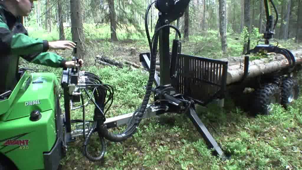 Modish Przyczepa do przewozu drewna z żurawiem - YouTube WY17