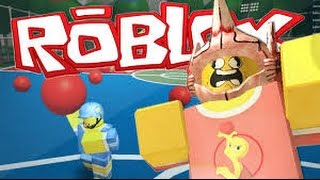 Roblox / Dodge Ball / I`m flying?!