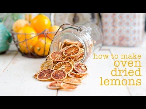 Oven Dried Lemon Slices Youtube