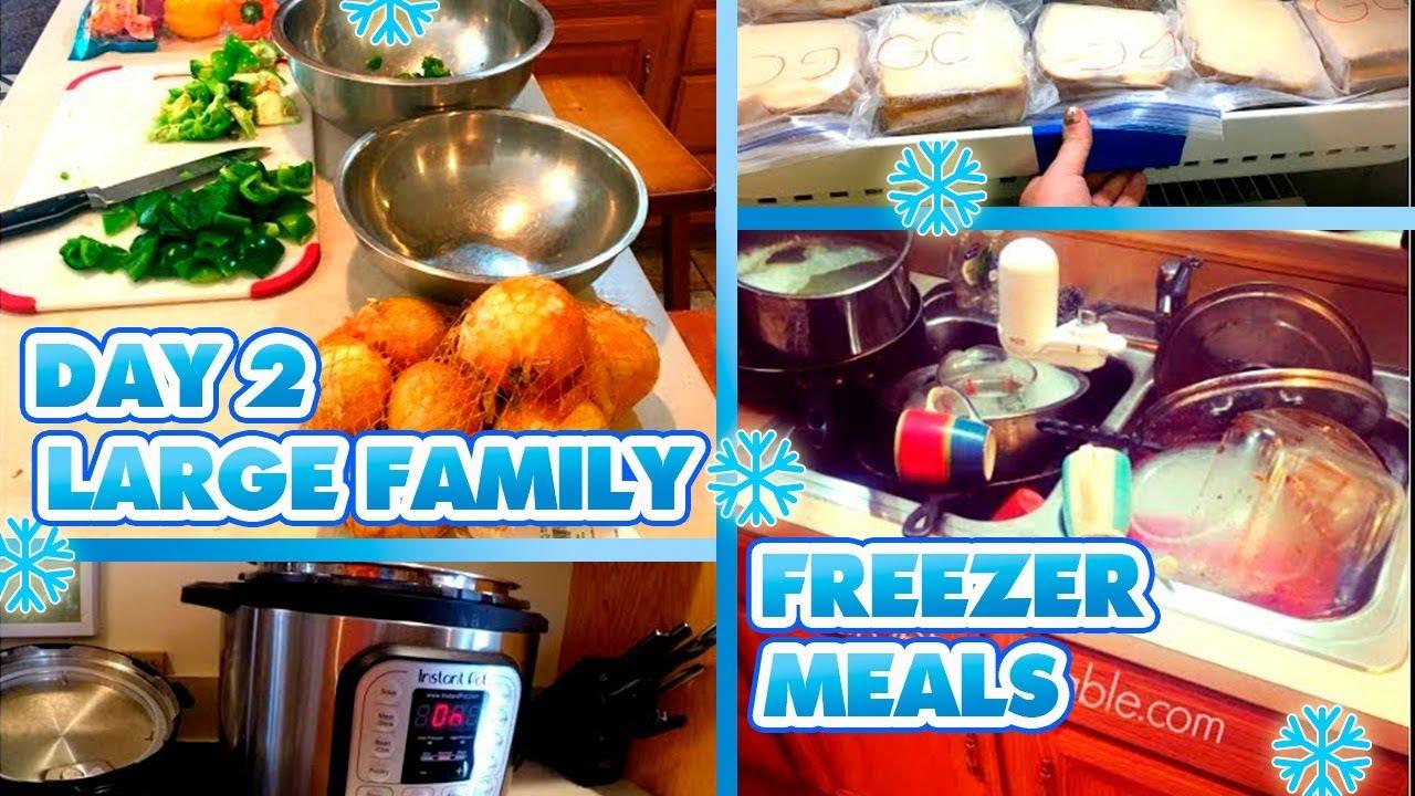 LARGE FAMILY FREEZER MEALS | DAY ONE | Massive Freezer ...