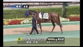 2018年10月27日(土) 4回東京8日 4R メイクデビュー東京 ダート 1400m ...