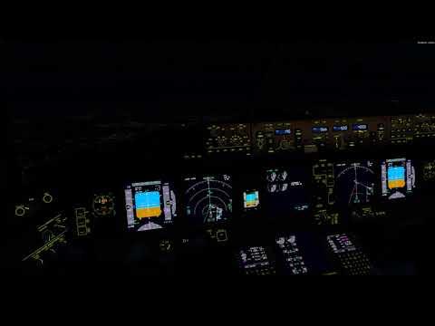 Night landing EDDF P3D V4.2 4K
