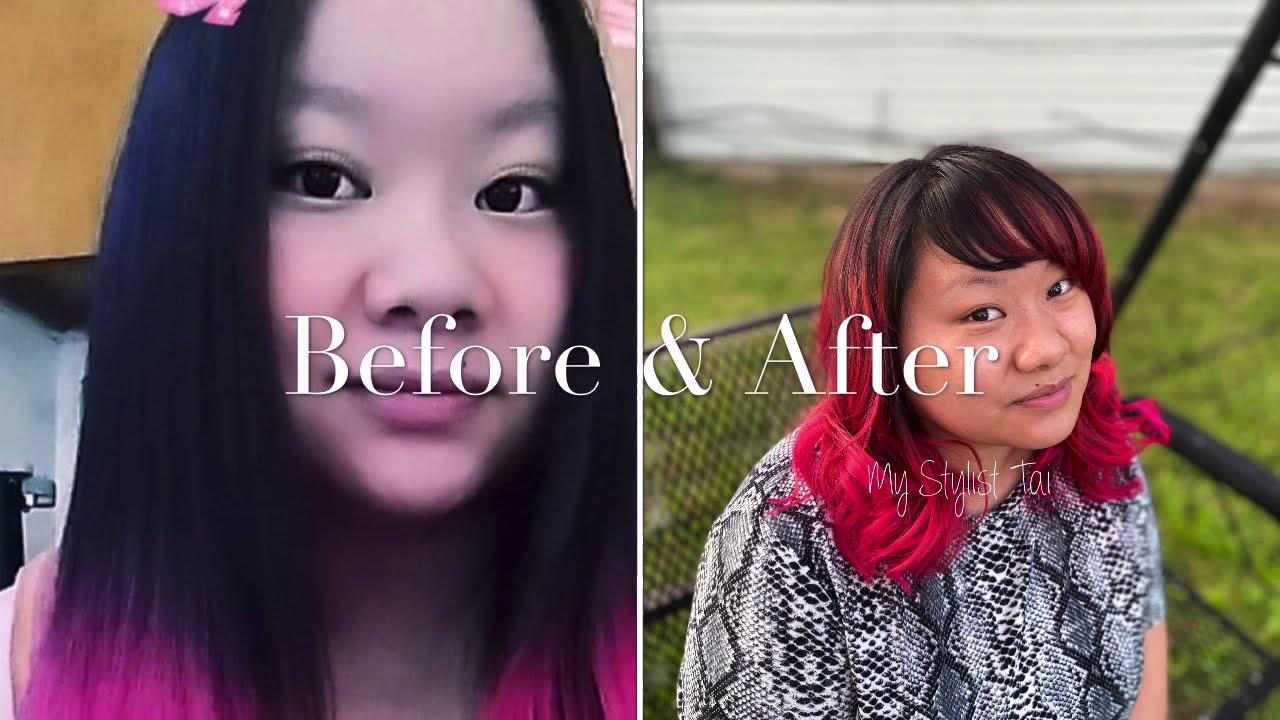 Magenta Ombré Hair | Makeover | Professional Hair Stylist
