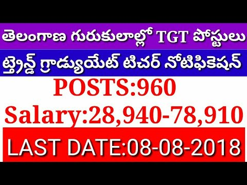 TELANGANA TRAINED GRADUATE TEACHERS RECRUITMENT Notification