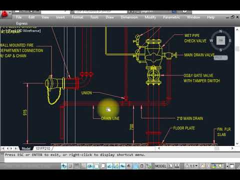 Fire Fighting  Fire alarm check valve installation details with Auto cad layout  YouTube