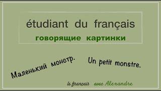 Урок французского языка. Маленький монстр.  Le petit monstre.
