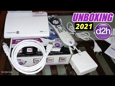 Videocon d2h HD Unboxing 2020 | d2h 6666RF STB Unboxing & Review