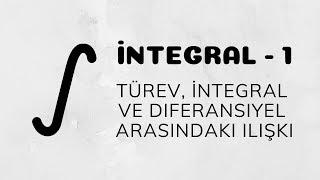 İntegral - 1 (İntegral'e Giriş | Türev, İntegral ve Diferansiyel Arasındaki İlişki)
