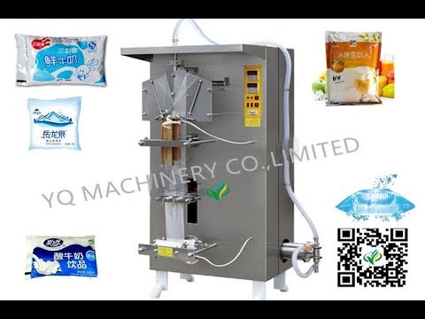 Automatic juice Milk Oil Liquid Mineral Water Sachet Packer Pouch Packing Machine price